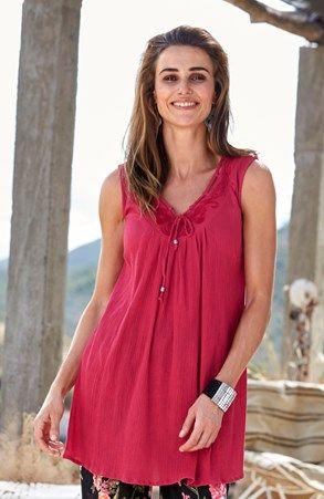 Mega seje Cellbes Top Hindbærrød Cellbes T-shirt & toppe til Damer i behageligt materiale