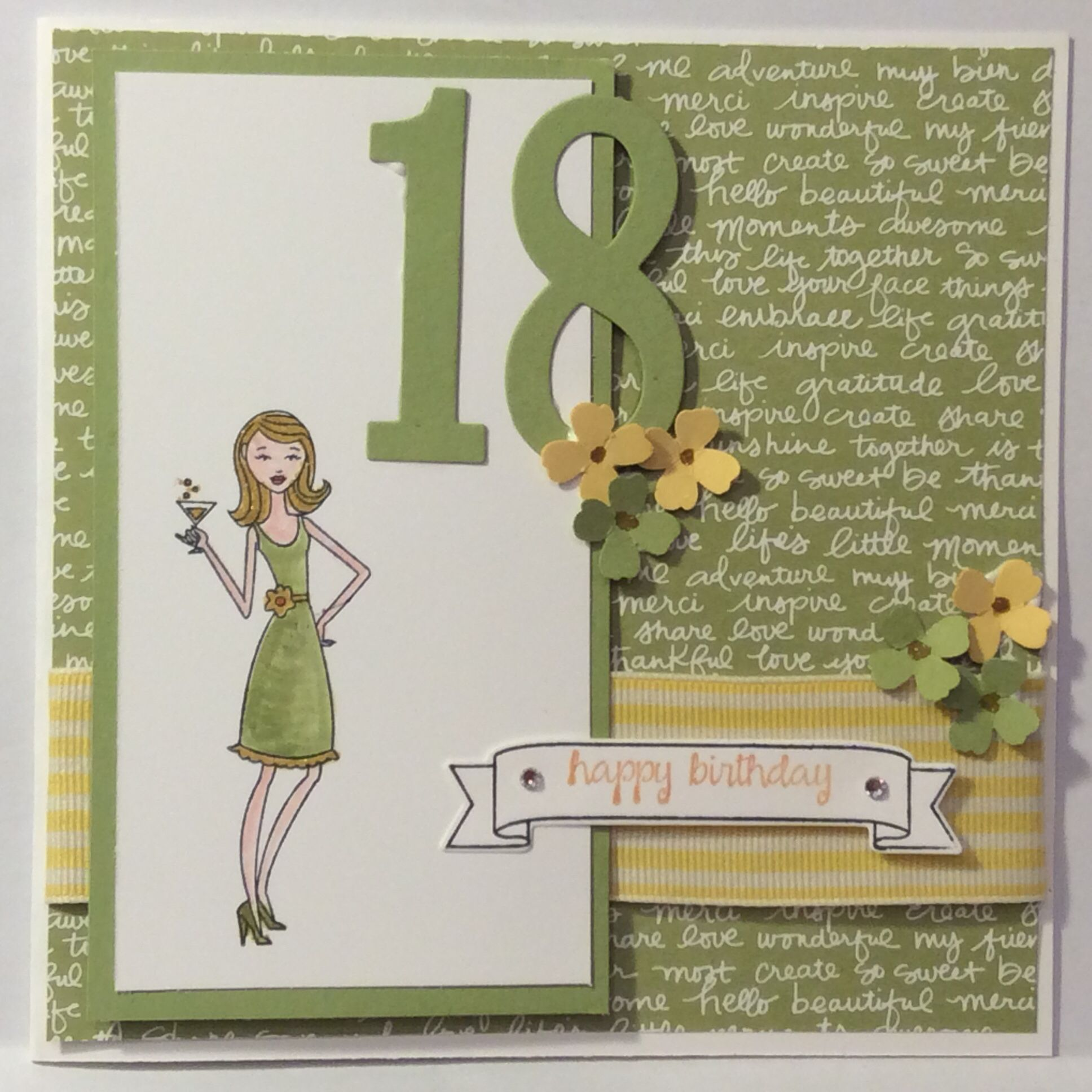stampin Up 18 th birthday card In it together and number of – Stampin Up Birthday Card
