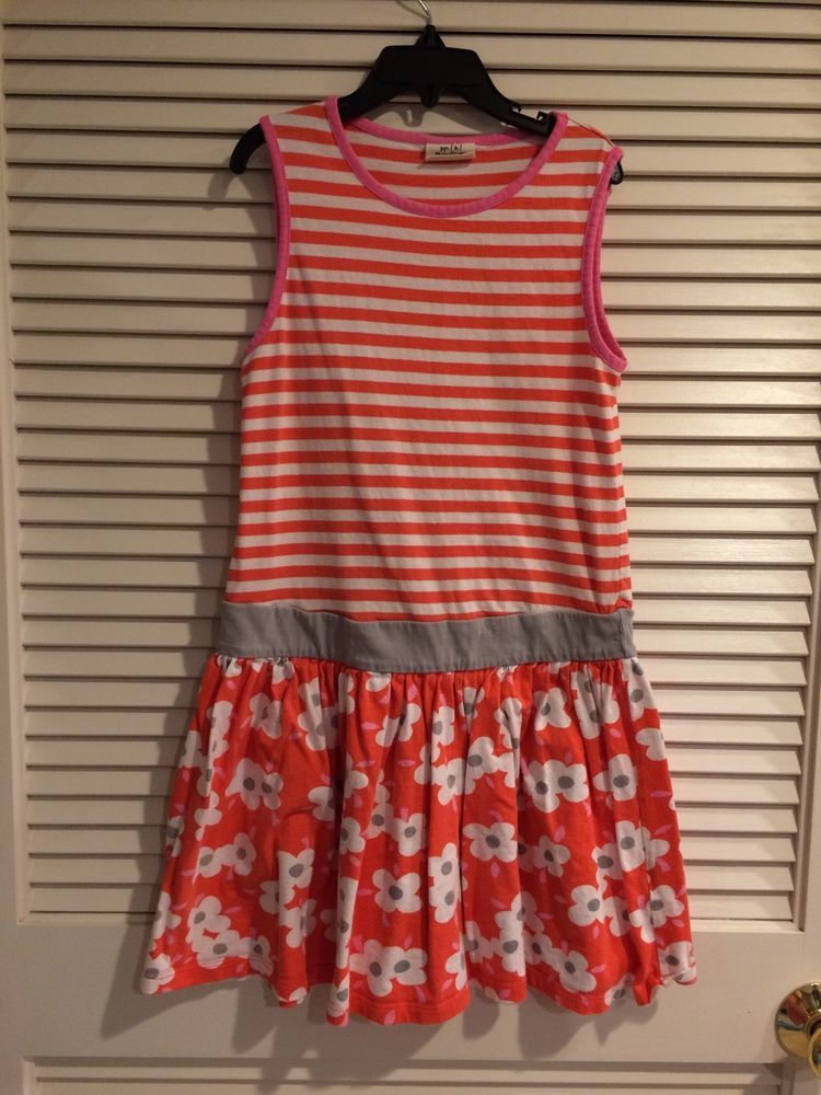 Mini Boden Girls Jersey Vest  BRIGHT Orange Red dress Size 9-10 yrs #MiniBoden #DressyEveryday