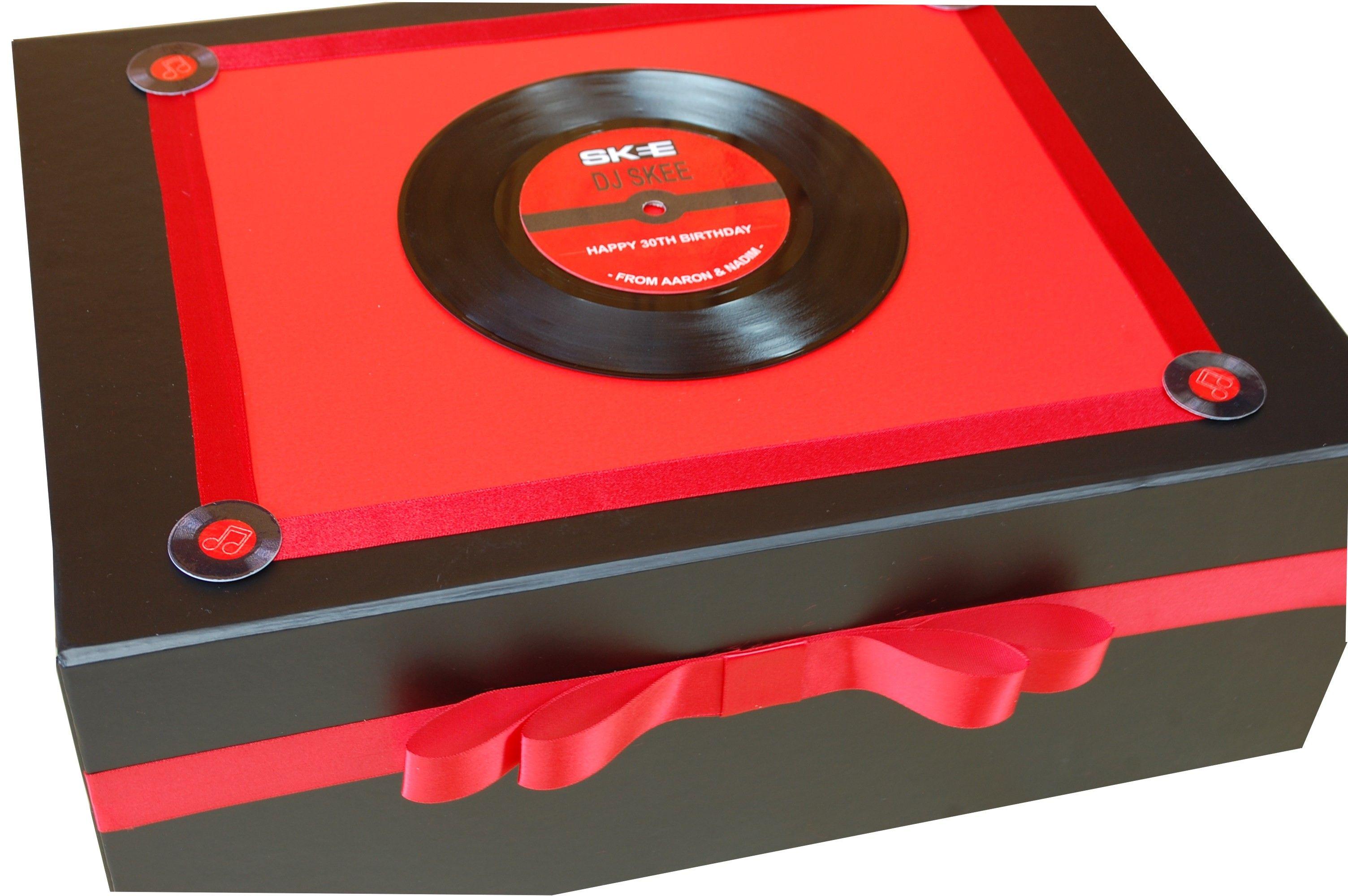 Personalised Keepsake Gift box with vinyl record. Extra large size ...