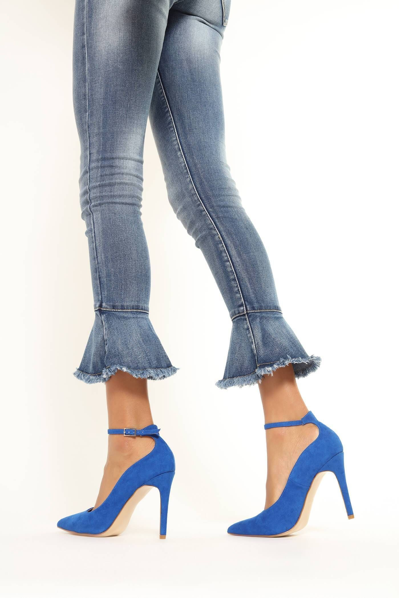 Cobalt Pointed Court Shoes