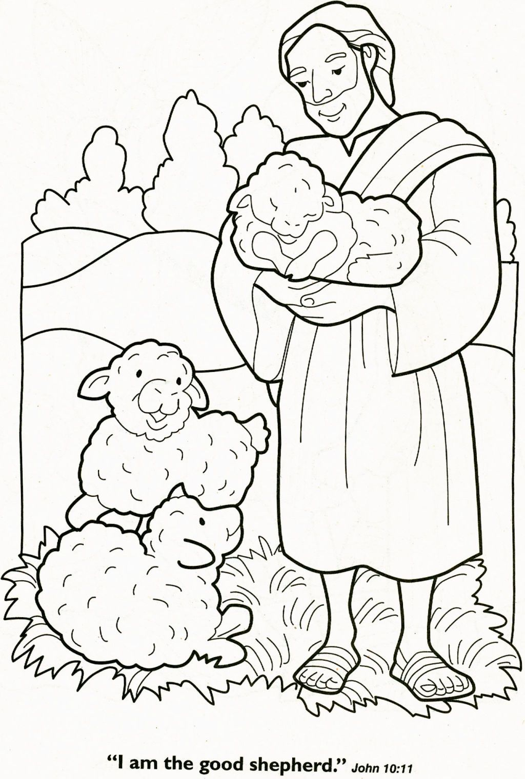 The Lord Is My Shepherd Coloring Page Coloring Pages Pinterest