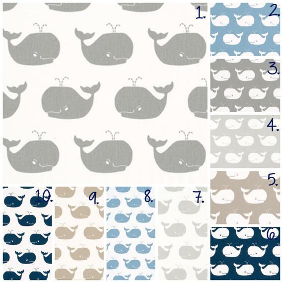 Whale Nursery Curtain Panels Whale Drapes Whale Curtains Grey Whale Curtains  Navy Whale Weathered Blue Whale