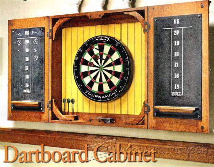 Dartboard Cabinet Plans - Woodwork, Woodworking, Woodworking Plans,… | Pinterest