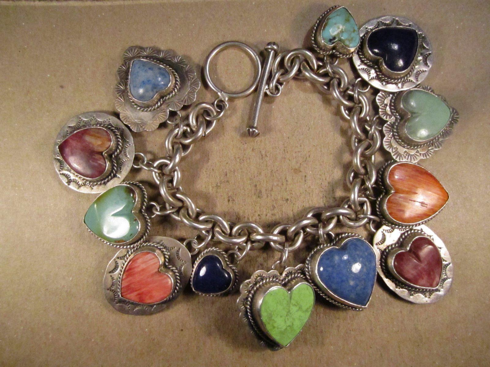 Amazing Joan Slifka Sterling Silver & Turquoise Etc Heart Charm