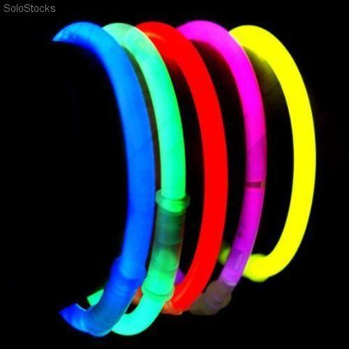 Pulseras Luminosas Glow Multicolor 100 Unidades Globo Led