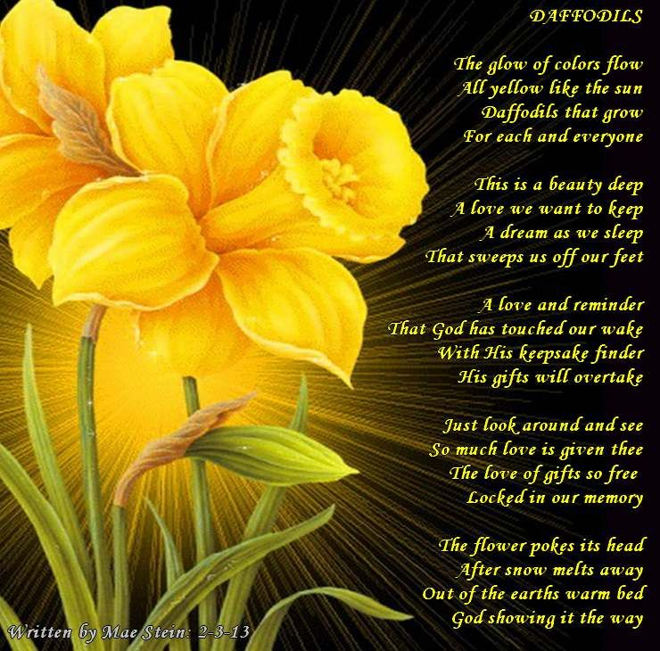 Daffodils All Types Of Poetry Daffodils Daffodils Poem Poems