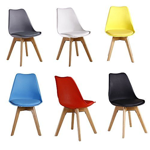 PN Homewares Lorenzo Tulip Chair Plastic Wood DSW Retro Dining