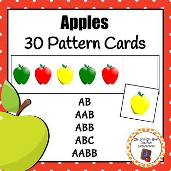 Patterns: Apple Pattern Cards - S | Apple Theme | Card