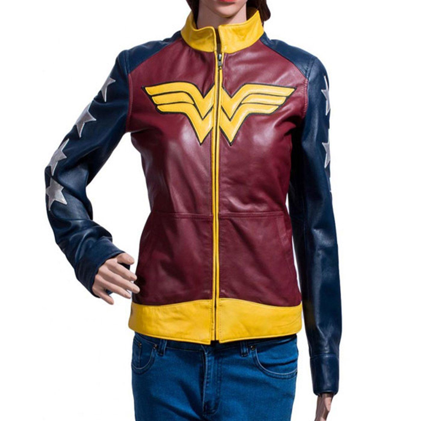Wonder Woman Leather Jacket Jackets for women