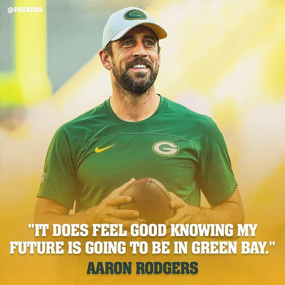 Aaron Rodgers Feels Good Knowing Future Is In Green Bay Packers Qb Aaron Rodgers Discussed His Contract Extension And What It Means To Green Bay Packers Aaron Rodgers
