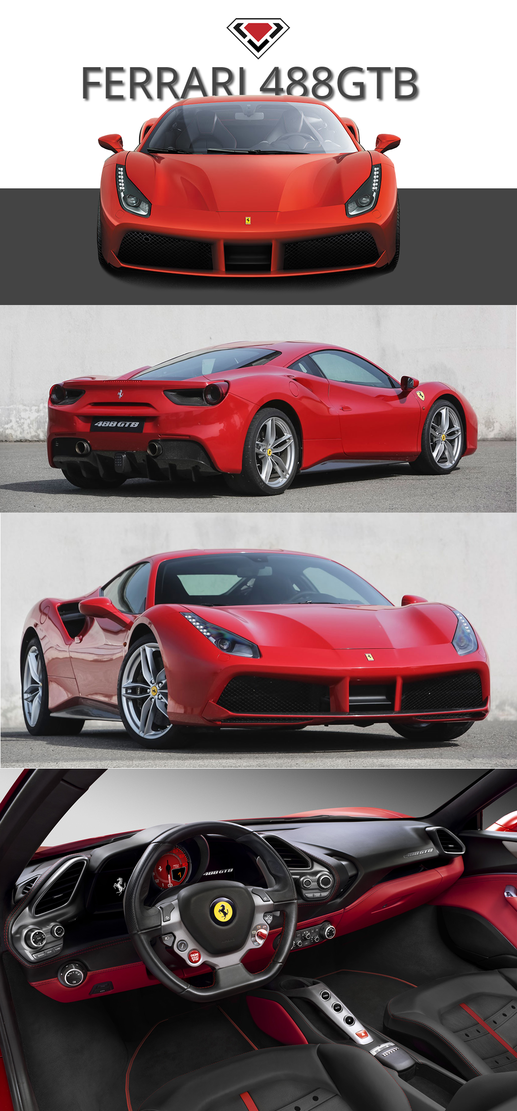 The Ferrari 488gtb A New Chapter In The History Of 8 Cylinder The 488 Gtb Name Marks A Return To The Classic Ferrari Model Designation With The 488 In