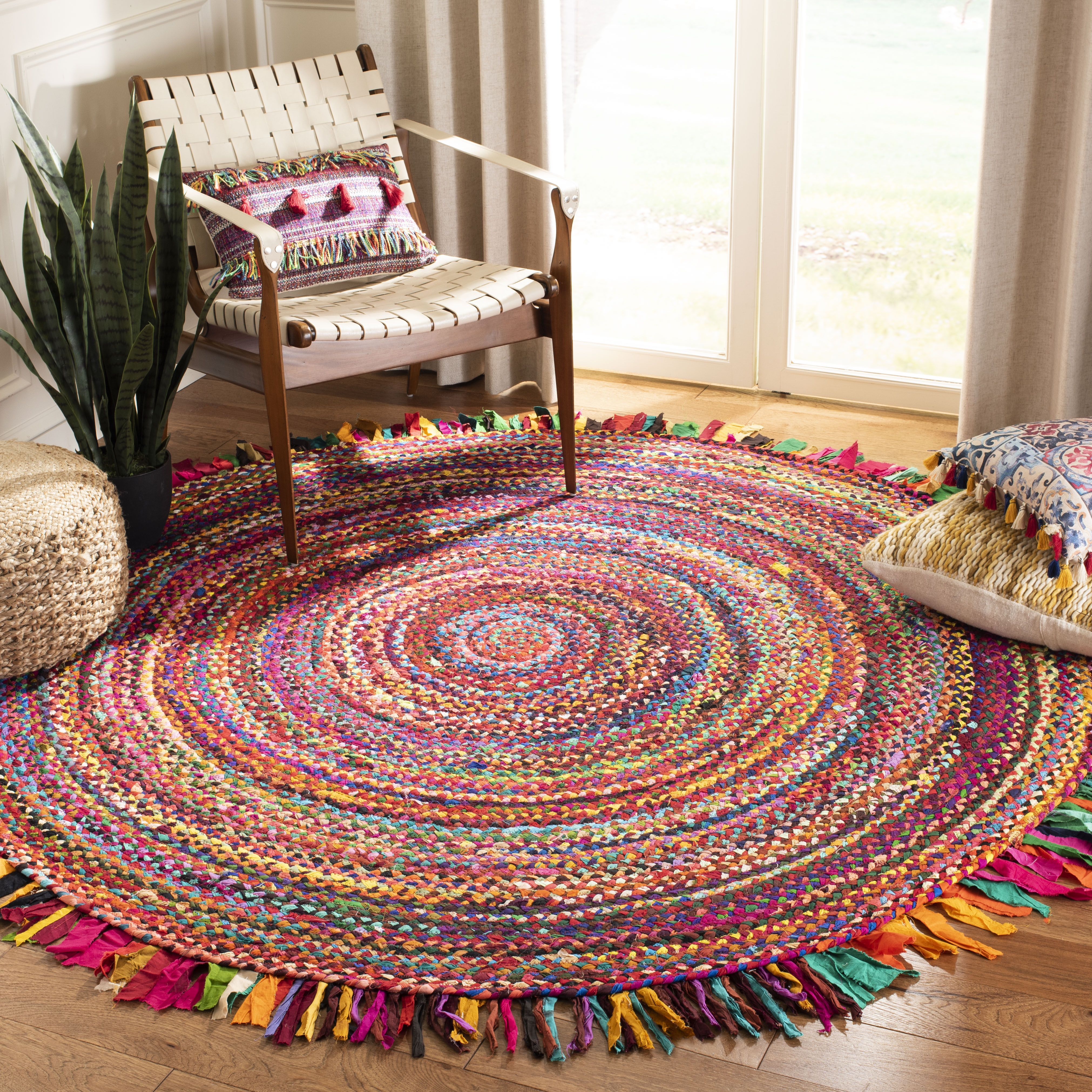 Safavieh Braided Magdalena Colorful Braided Area Rug Walmart Com Area Rugs Rugs Colorful Rugs
