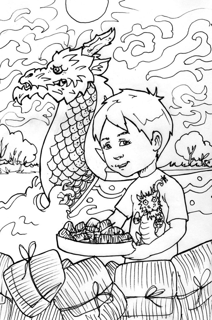 Dragon Boat Festival Coloring Sheet Dragonboatfestival Dragon Boat Festival Free Coloring Pages Coloring Pages [ 1110 x 736 Pixel ]