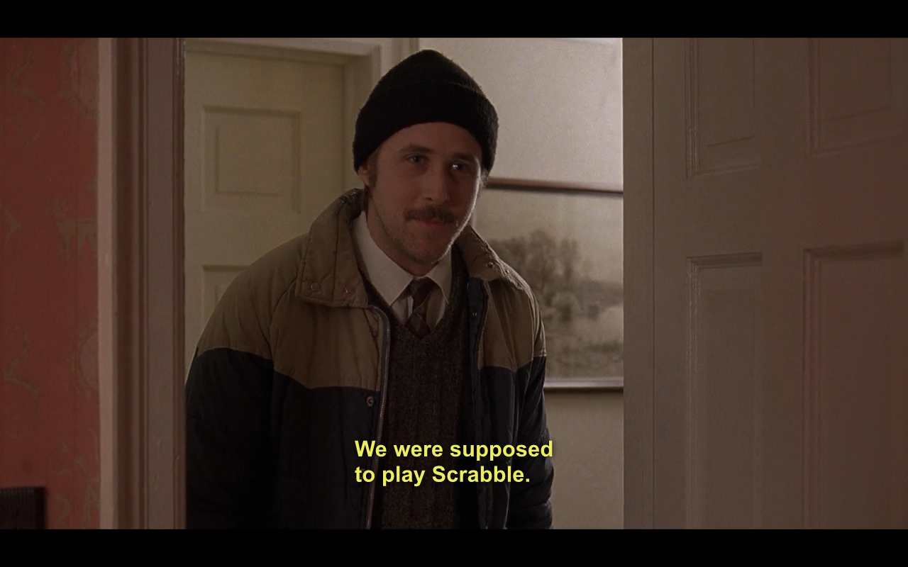 Hahaha Lars and the Real Girl. Ryan Frickin Gosling.   Let's watch