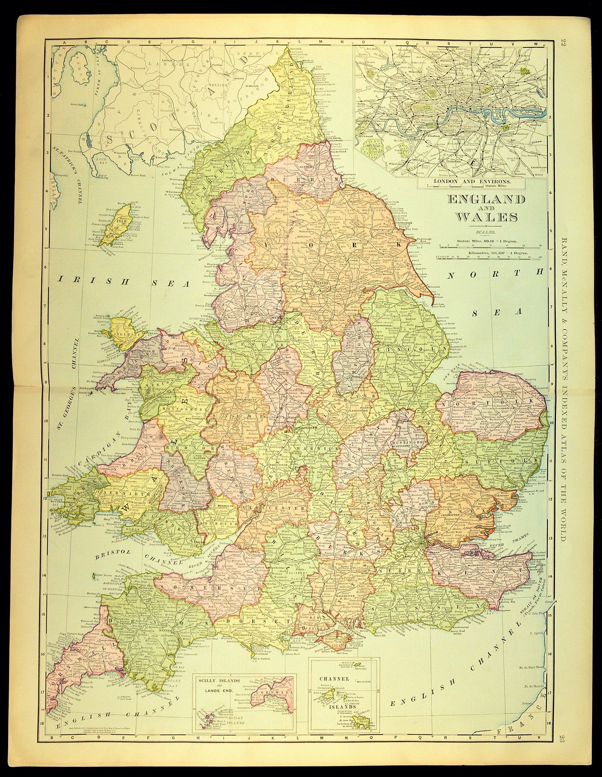 Large Map Of England And Wales.England Map Of England Wall Art Decor Extra Large Antique Wales