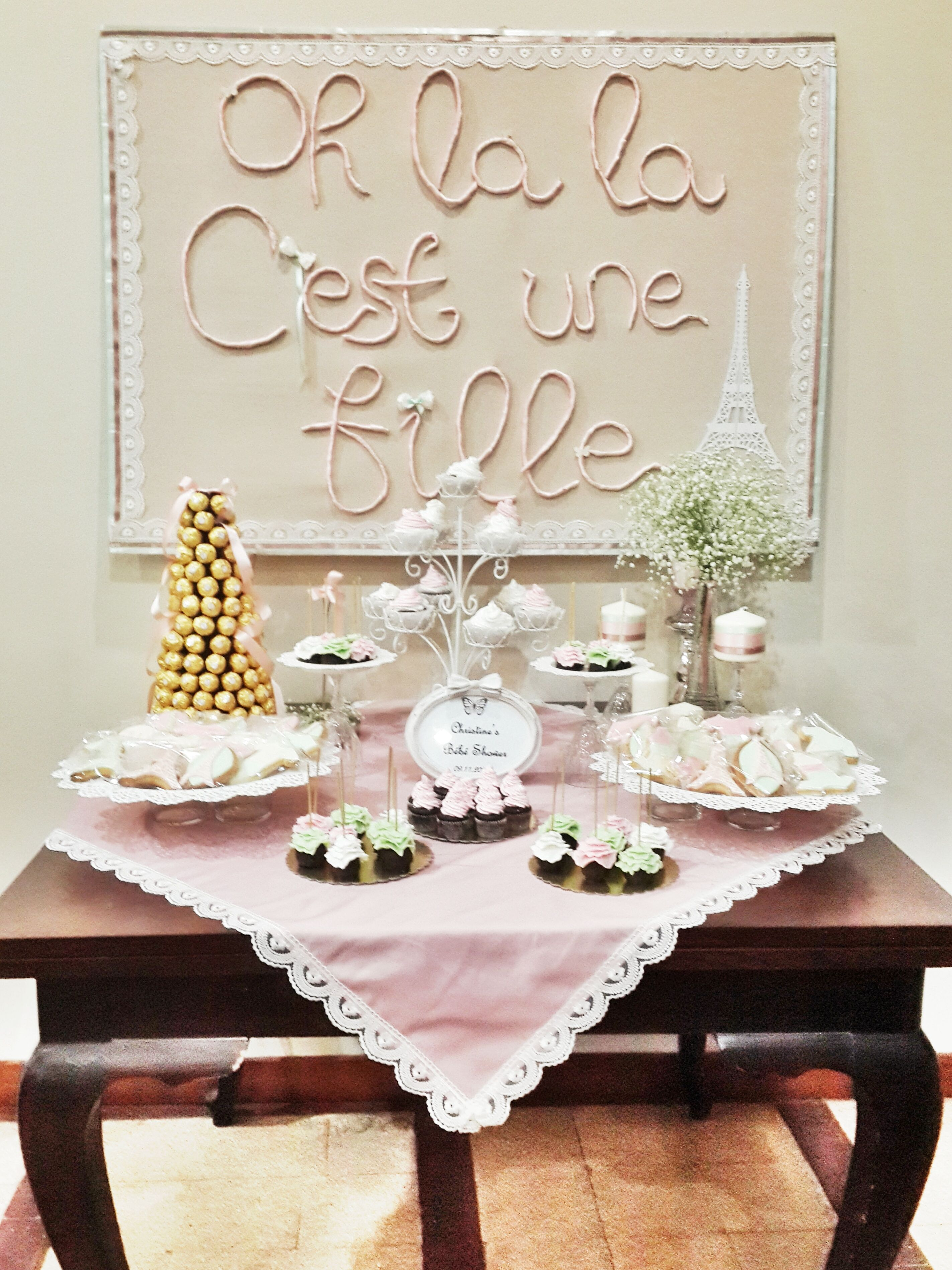 Awwwwwwwwww French Themed Baby Shower Dessert Table And No I Am Not