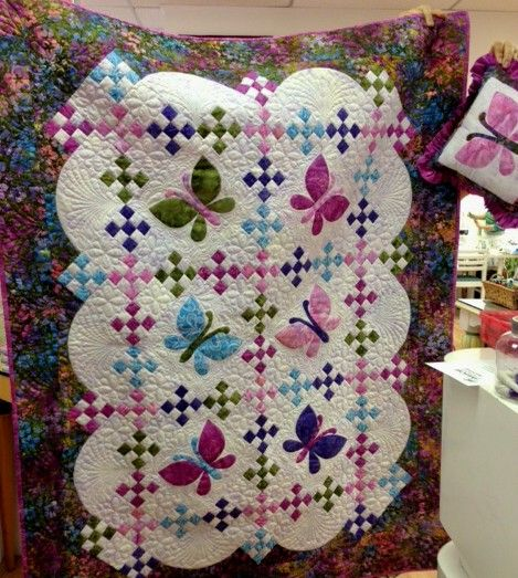 My Butterfly Quilt, Decorative Pillow and Pillowcase | Quilts ... : pillow and quilt - Adamdwight.com