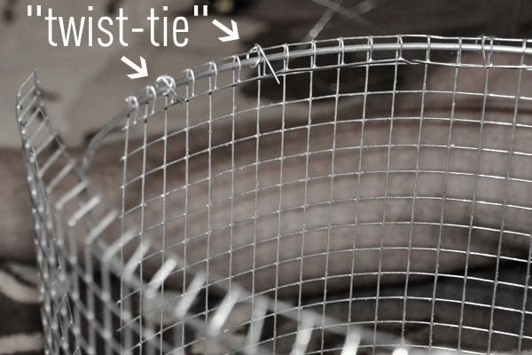 Diy wire lampshade wire lampshade chicken wire and metals twist tie metal chicken wire lampshade greentooth Images