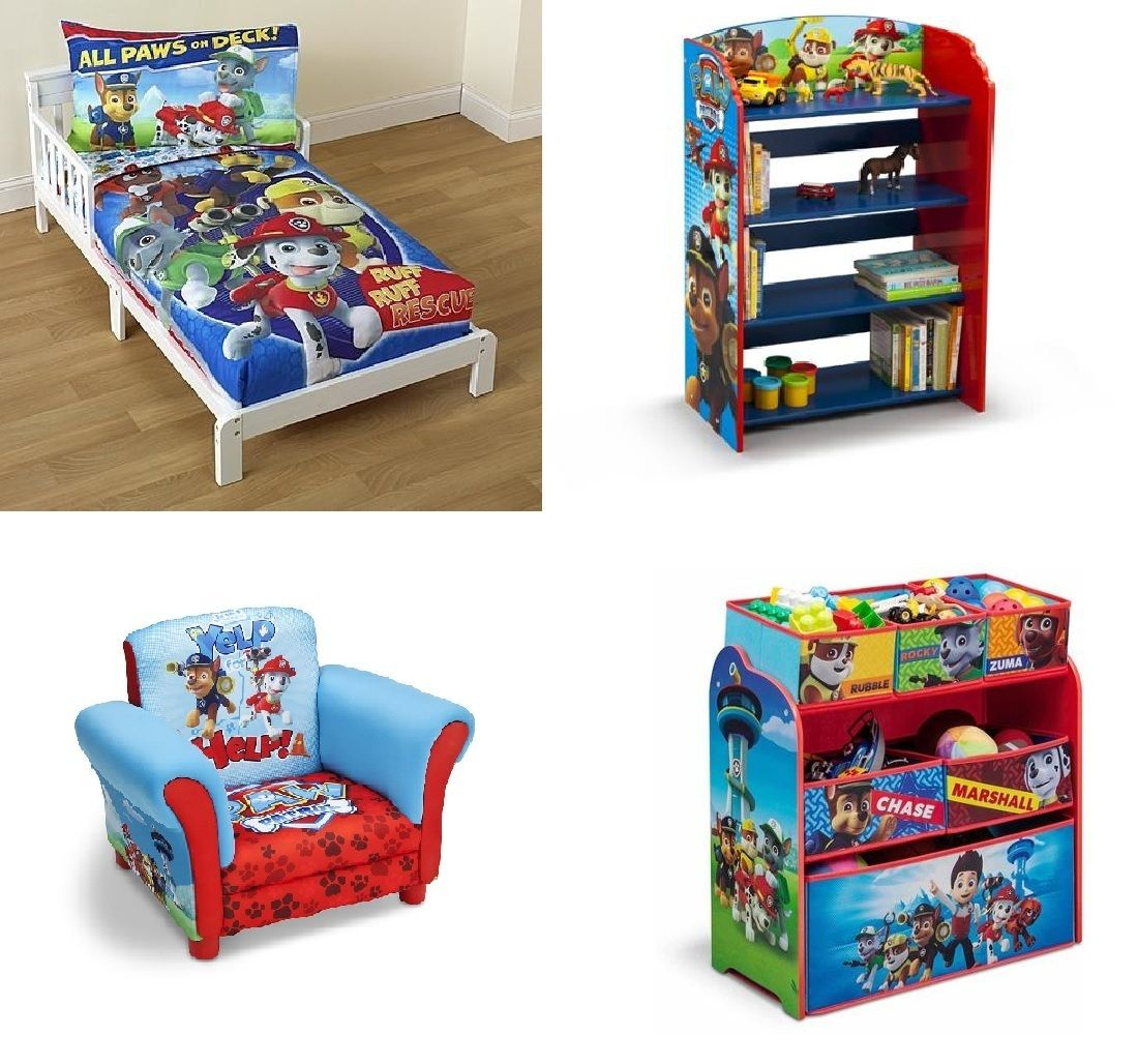 Paw Patrol Toy Organizer Bin Cubby Kids Child Storage Box: Kids Love Themed Bedroom Sets