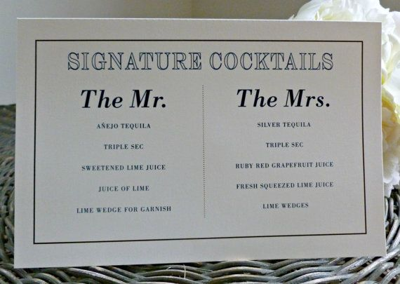 Image result for wedding signature cocktail