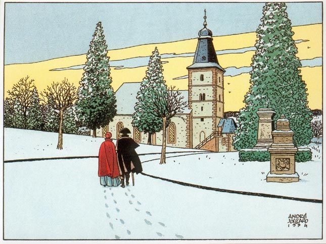 André juillard klare lijn stripboeken en winter