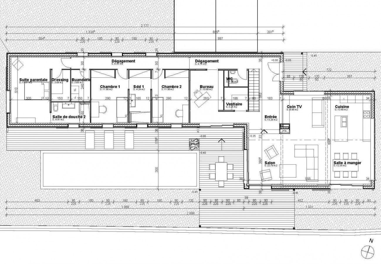 Plan Maison Architecte Moderne Gratuit En 2020 Avec Images