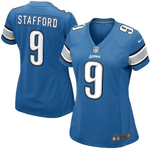 women nike detroit lions 9 matthew stafford limited light blue team color nfl jersey sale michael burton