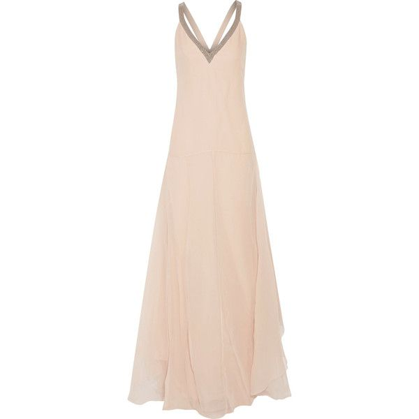 Brunello Cucinelli - Bead-embellished Silk-chiffon Gown (19.234.680 IDR)