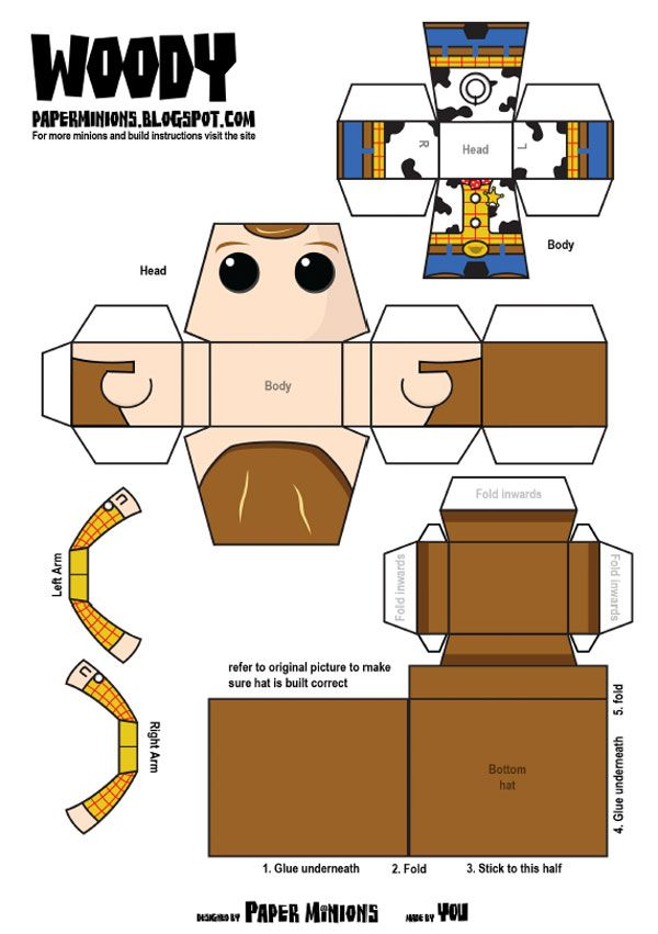 842 woody papertoy template woody buzz papertoy paper toys
