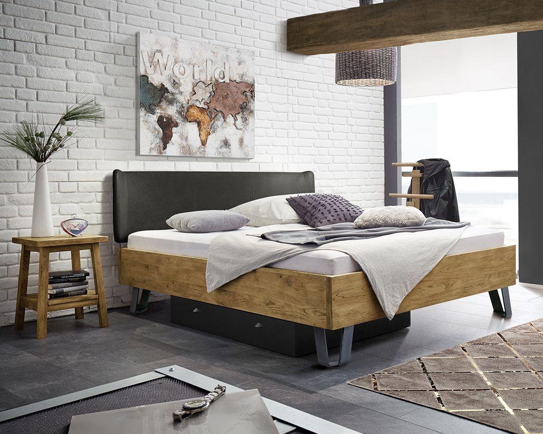 Bett Aus Wildeiche Kunstleder Mit Breiten Hairpin Legs Passo Eichenbetten Designer Bett Zimmer Dekor Ideen