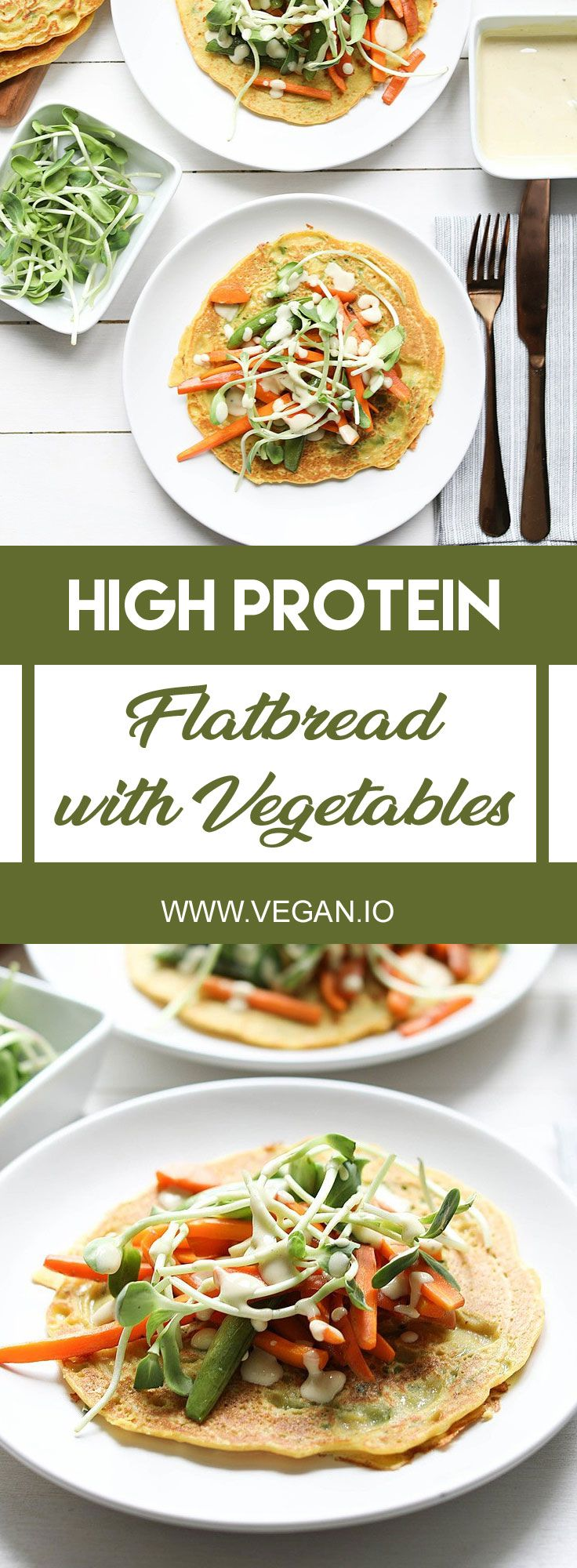 High Protein Flatbread With Vegetables