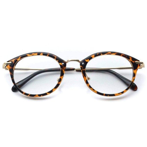 139559a881 Small clear lens fashion non prescription fake glasses in tortoise frame