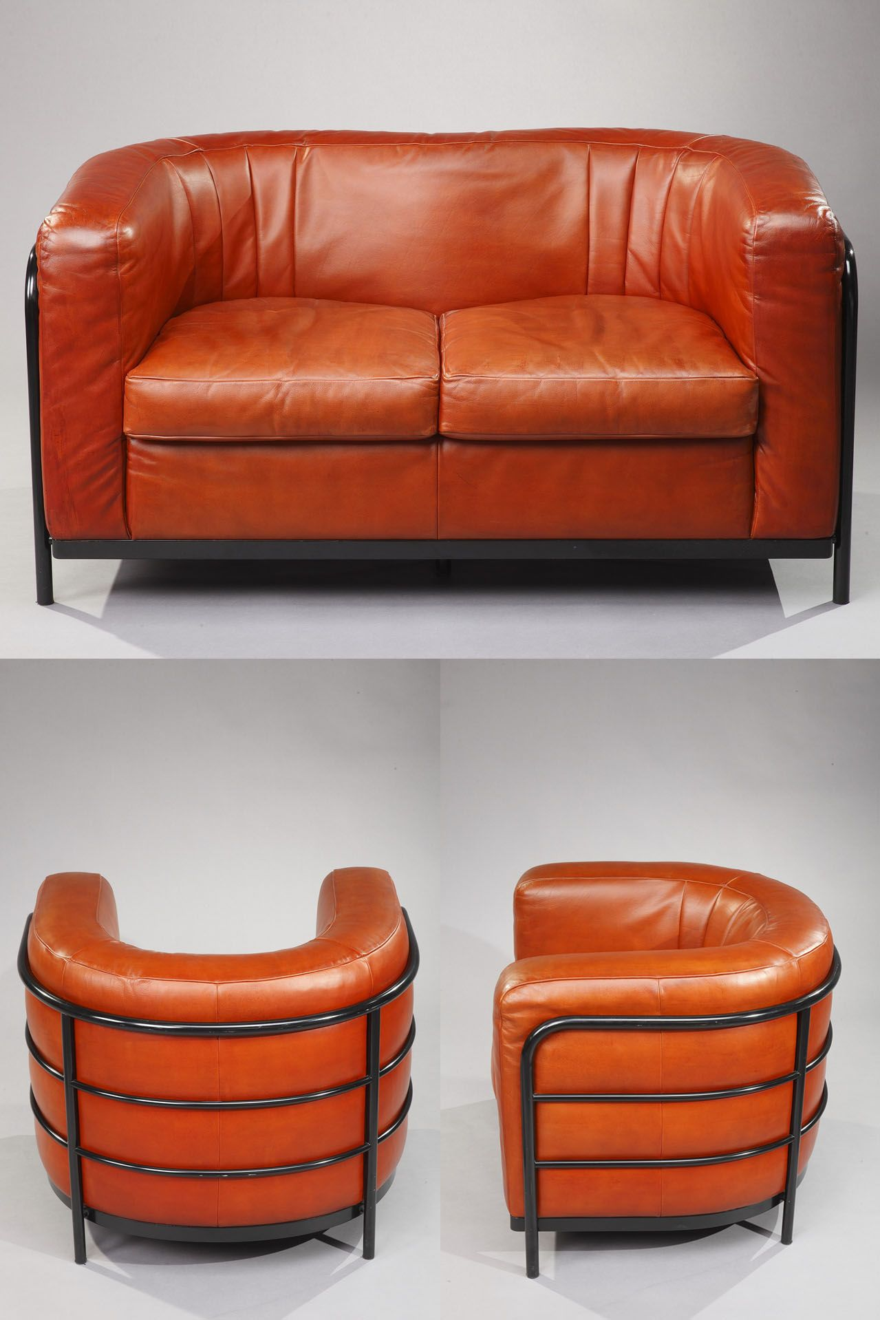 Onda Living Room Set Sofa And Armchairs By Zanotta Italy Leather Living Room Furniture Living Room Leather Furniture #orange #leather #living #room #sets
