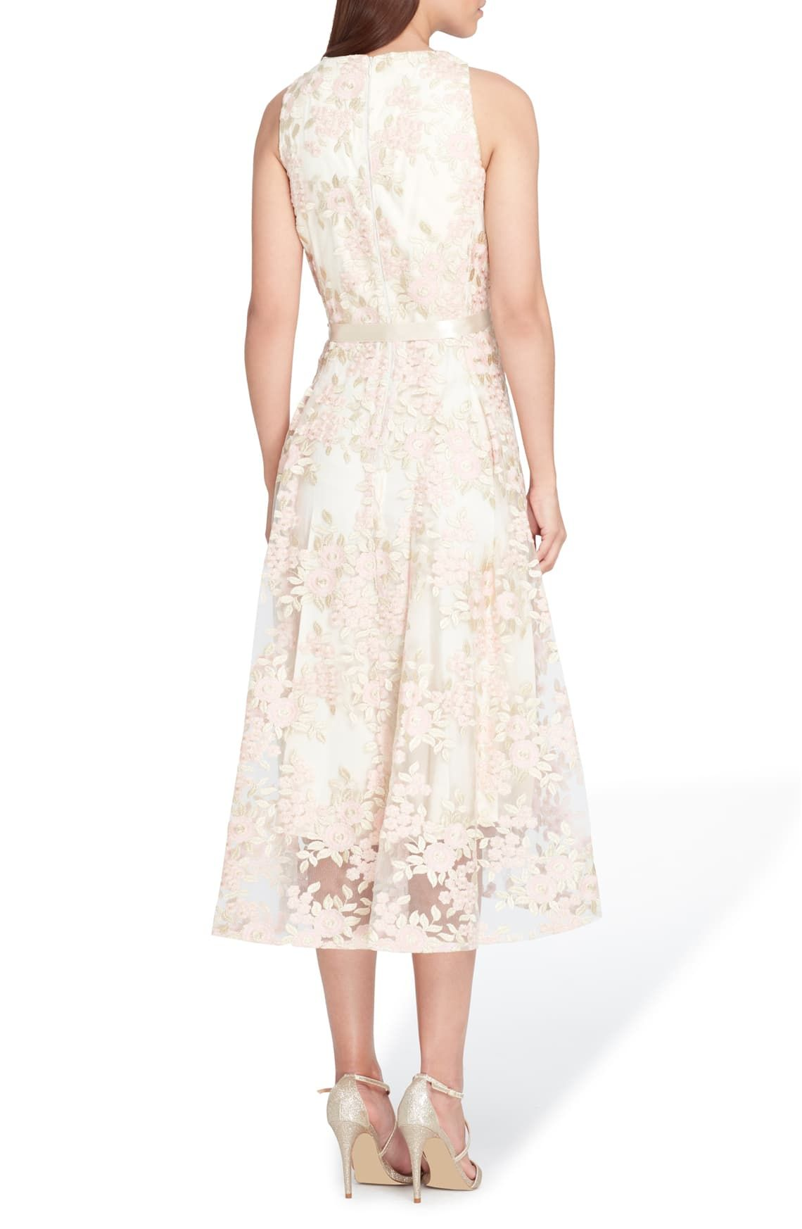Free Shipping And Returns On Tahari Embroidered Sleeveless Dress At Nordstrom Com P A Lustrous Satin Ribbo Paisley Maxi Dress Trendy Cocktail Dresses Dresses