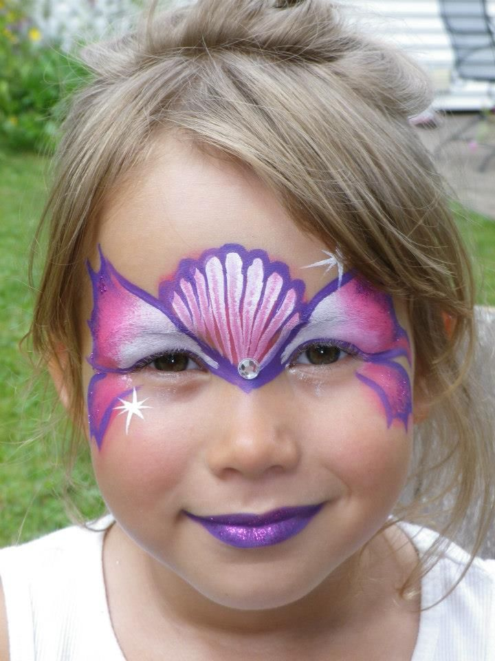 Stephanie S Face Painting 187 Fancy Eyes Sea Shell Pink