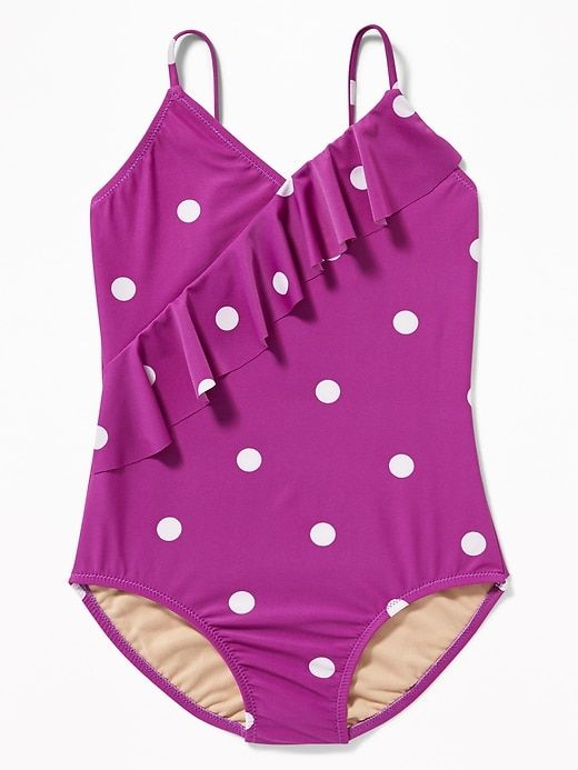 0c18a0c3ed Printed Asymmetrical-Ruffle Swimsuit for Girls in 2019 | Products ...