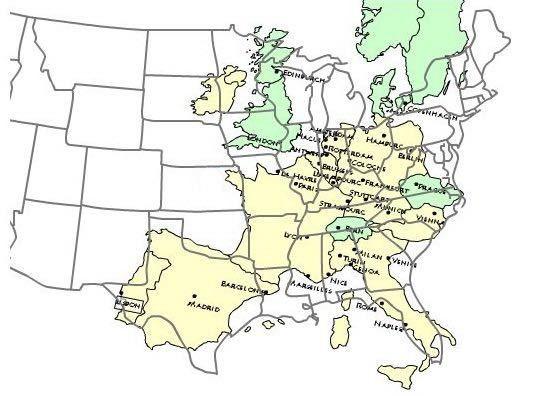 Western Europe over eastern U.S. | mapmania | Map, Europe, Geography