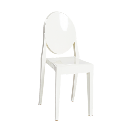 Chaise Victoria Ghost blanche by Philippe Starck - Kartell