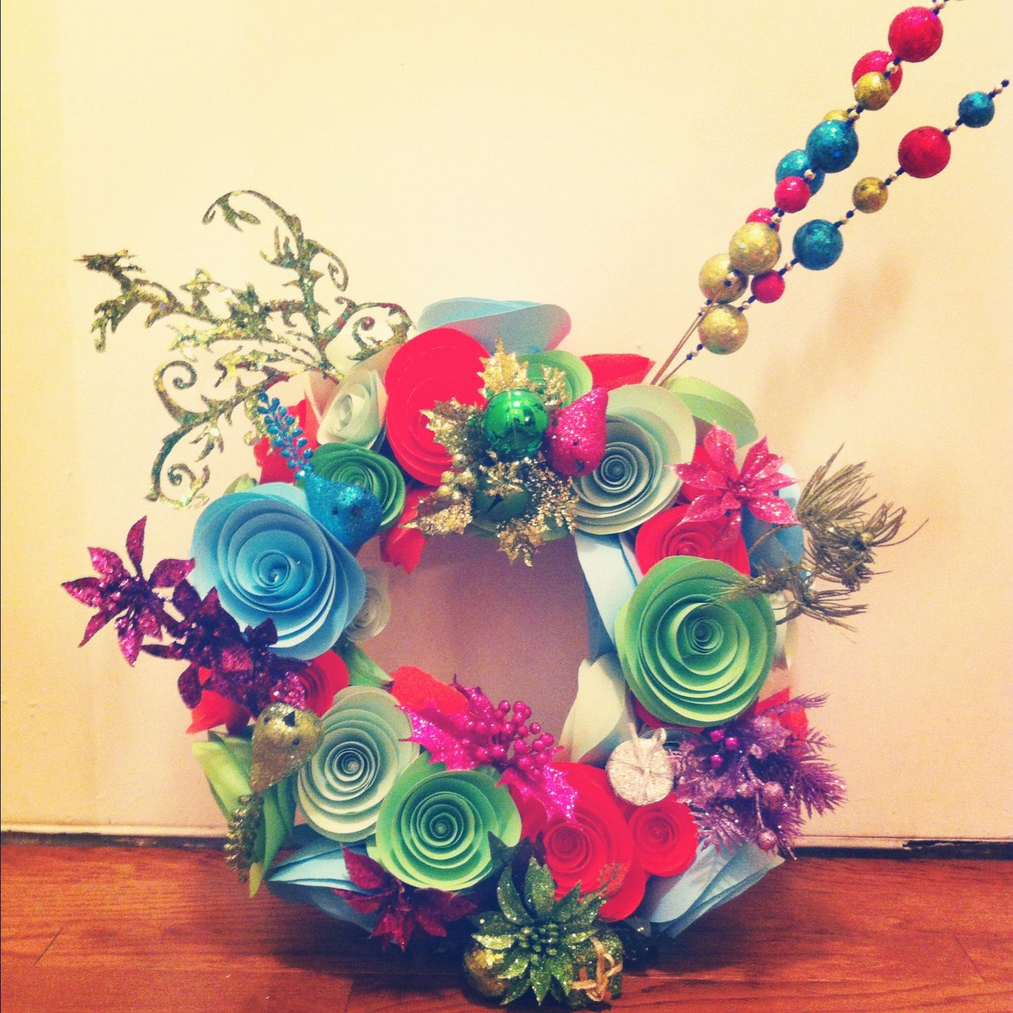 Dr Seuss Inspired Wreath With Images
