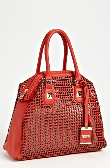 POVERTY FLATS by rian Perforated Faux Leather Shoulder Bag available at #Nordstrom
