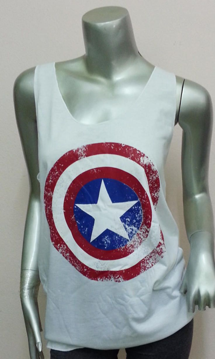 "Officially Licensed Captain America Distressed /""A/"" Mens Tank Top Vest S-XXL Size"