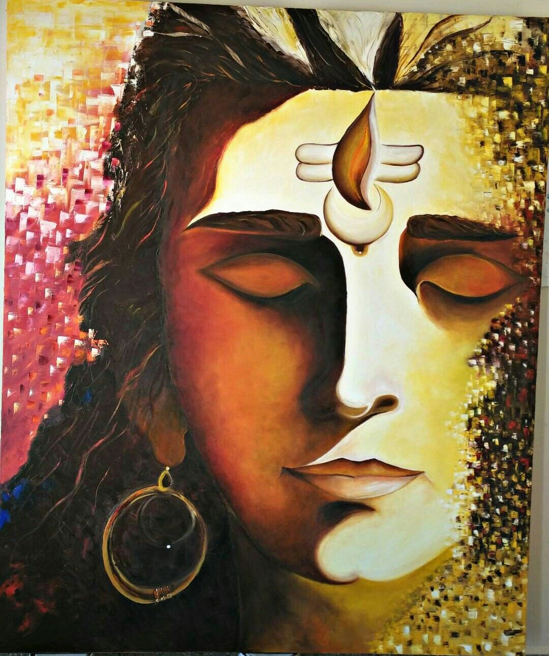 My Recent Art Piece Lord Shiva Oil Painting Art Painting
