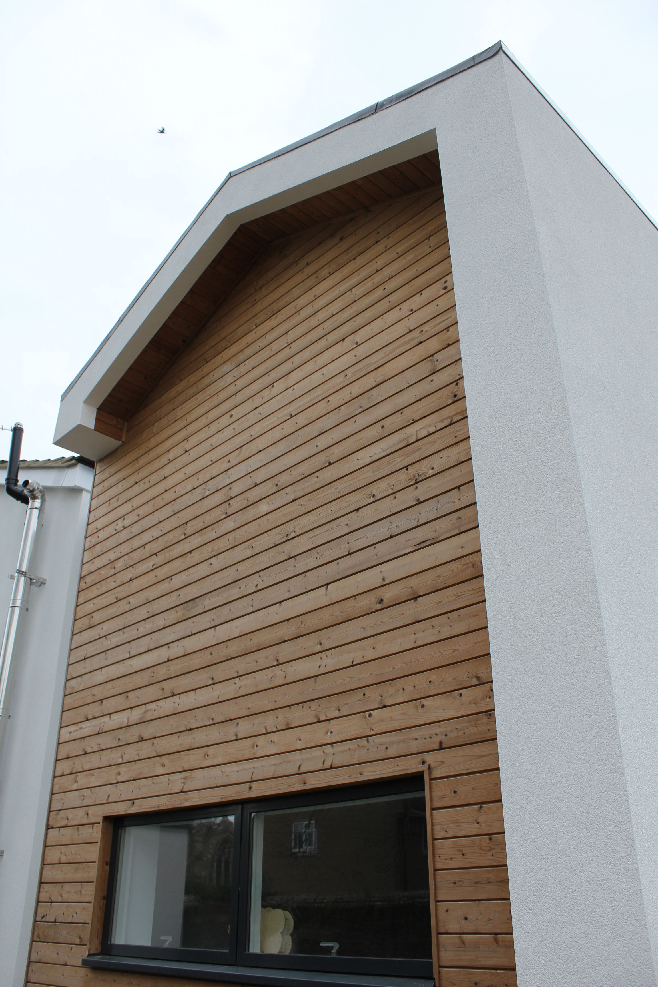 Residential Extension Gable End With Thermowood Timber