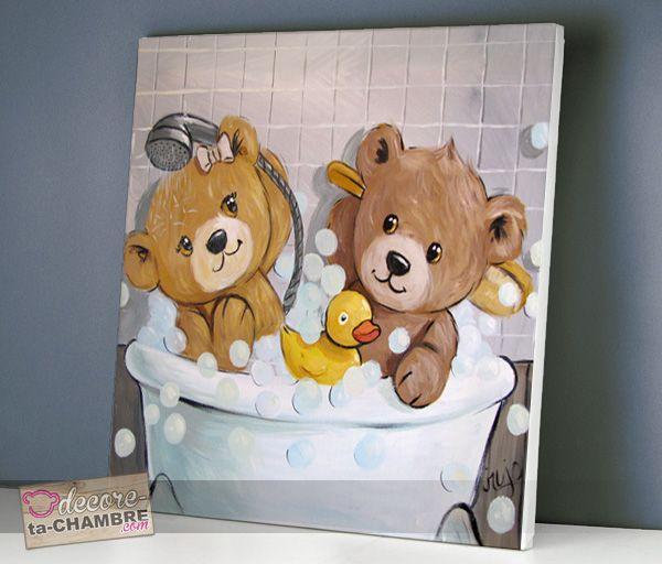 Tableau ourson salle de bain 53, TABLEAU Ourson | Painting ...