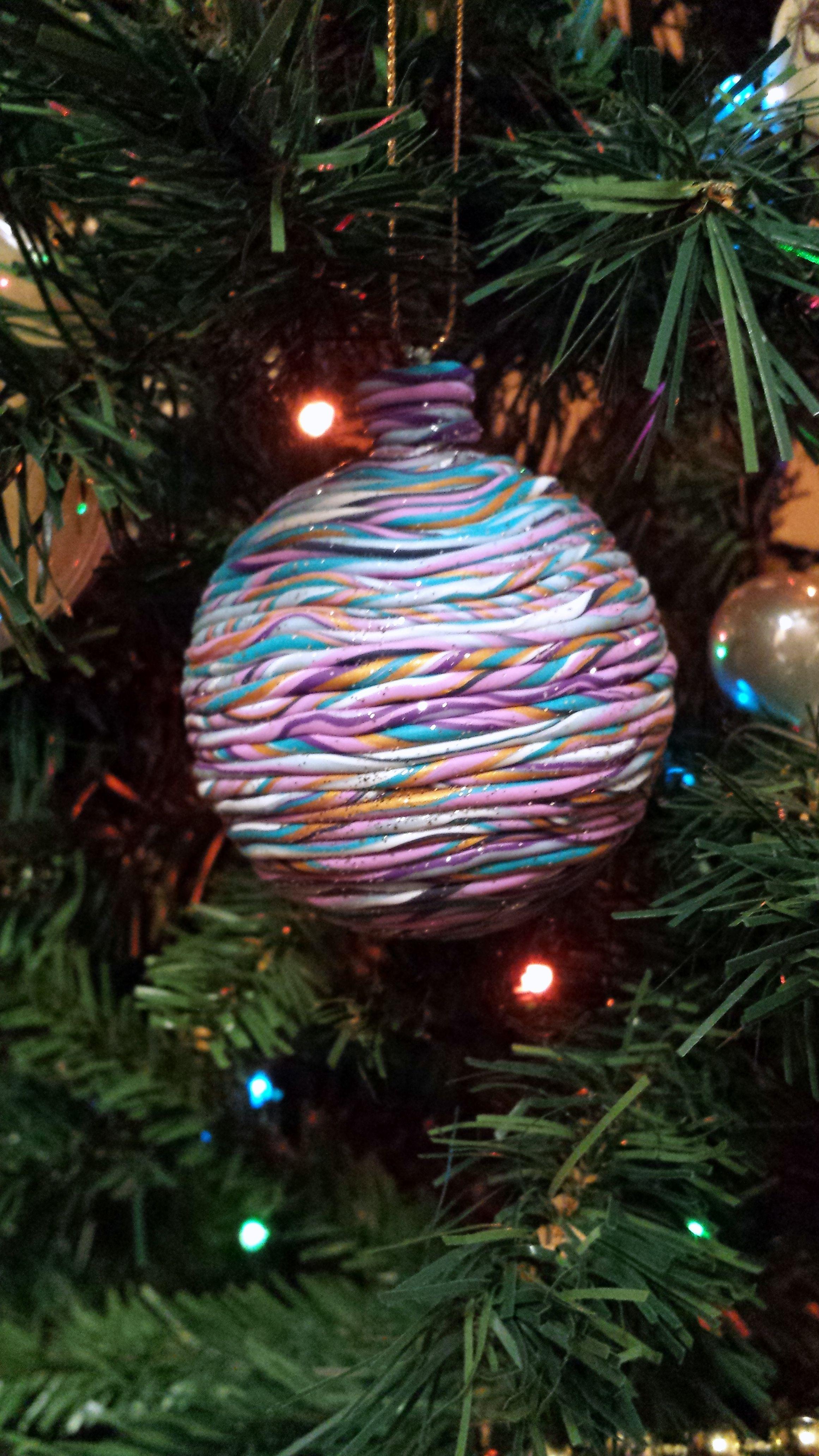 pallina di Natale Multicolor #handmade #fimo #natale