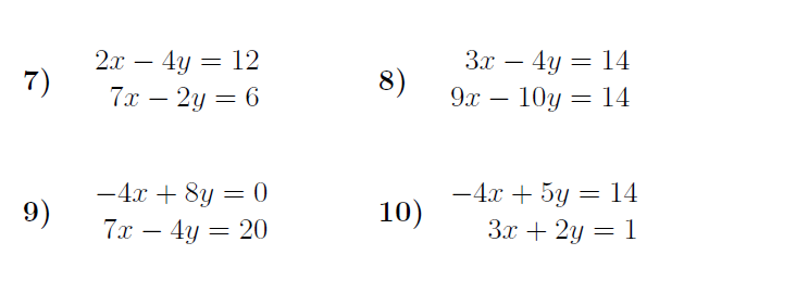 Simultaneous Equations Elimination Worksheet With Solutions A