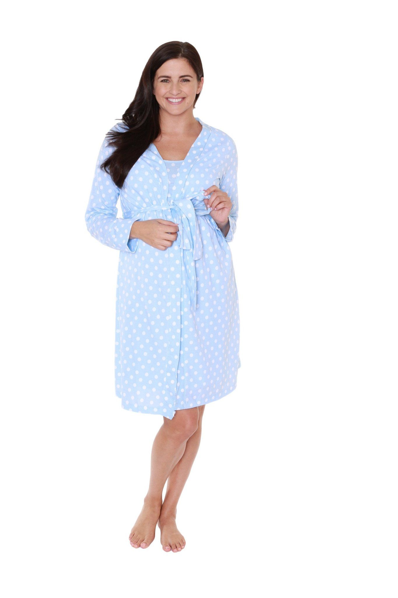 fba93231832ec This fabulous robe with attached belt adjusts easily from baby bump to new  mom. Whether you are home or walking the hospital ward, cover yourself in  style ...