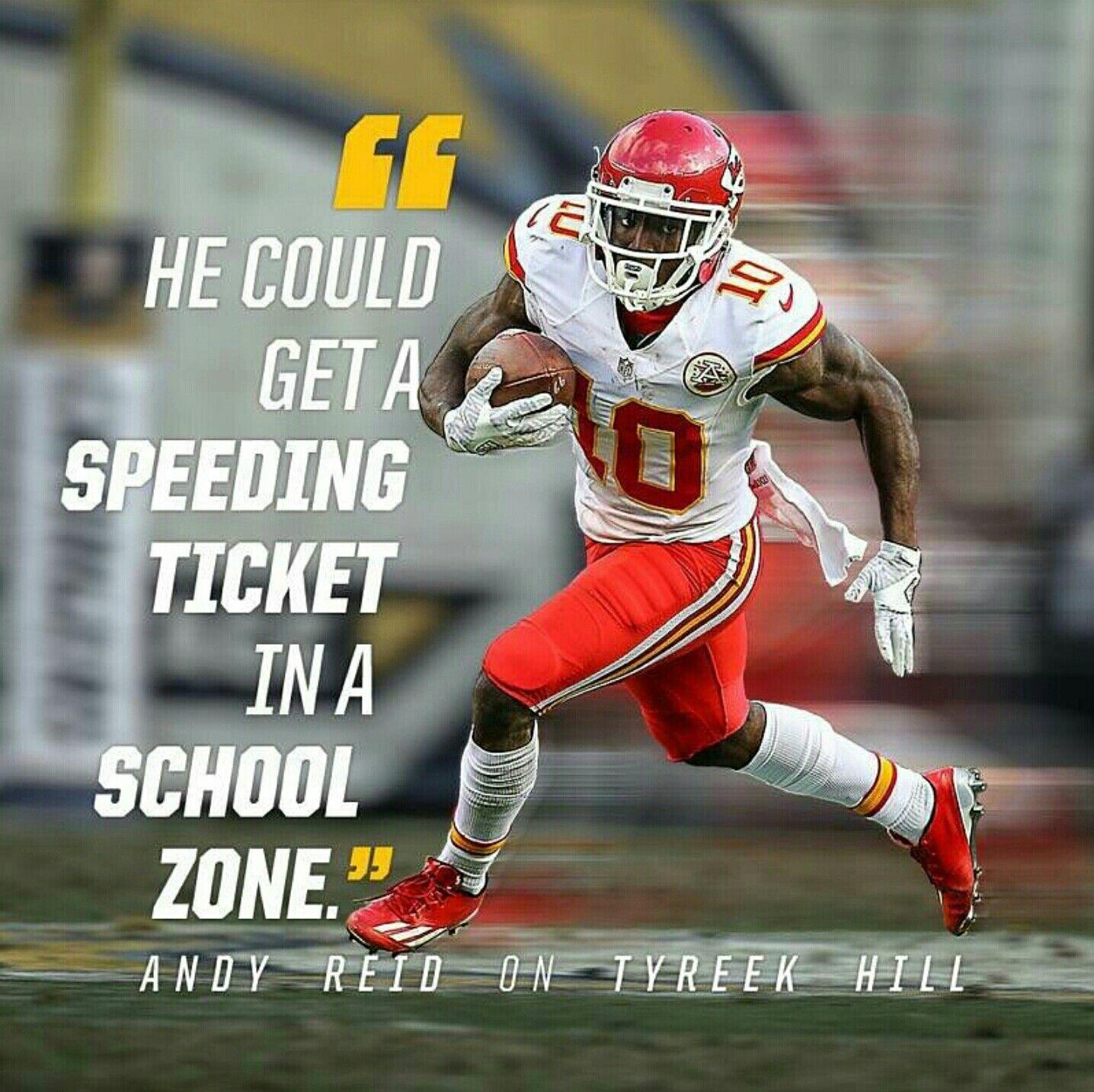 Andy Reid On Tyreek Hill Kansas City Chiefs Kansas City Chiefs Funny Kansas City Chiefs Football