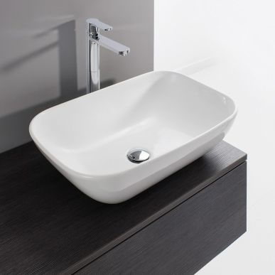 Create a spa-style look to your bathroom with the Bauhaus Serene countertop basin